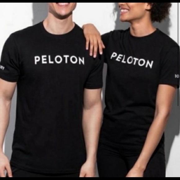 Peloton 100 Century Black and White Logo T-Shirt.